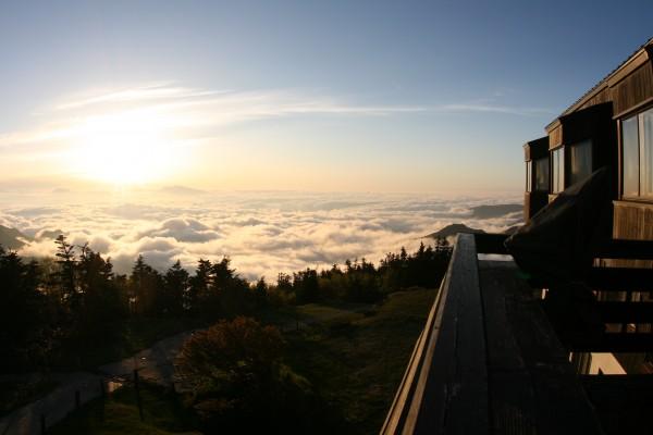 横手山頂ヒュッテからの景観