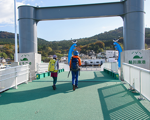 定期船で鮎川港へ(2日目)