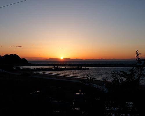 網地島で美しい夕日を望む(1日目)