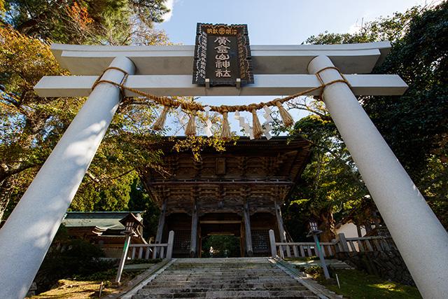 金華山の登山口にある黄金山神社(3日目)