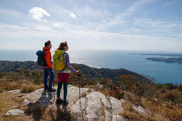 金華山頂から太平洋と島々の絶景を望む(3日目)