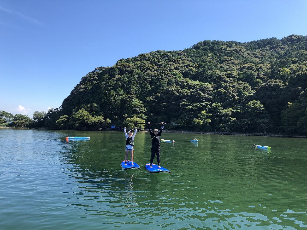 琵琶湖でSUPを楽しみます。@Puka Pukaびわ湖