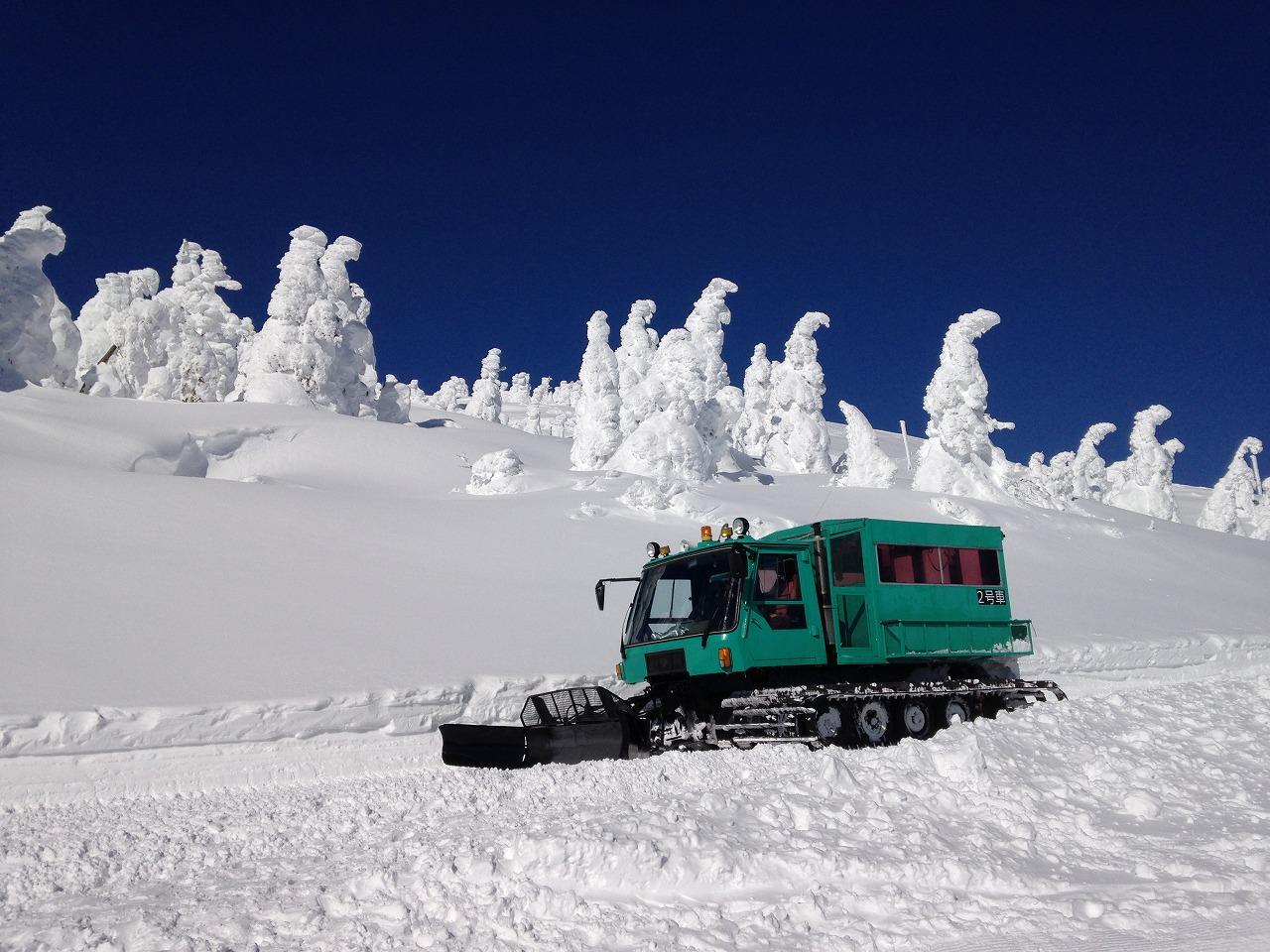 ワイルドモンスター号で巡る樹氷原
