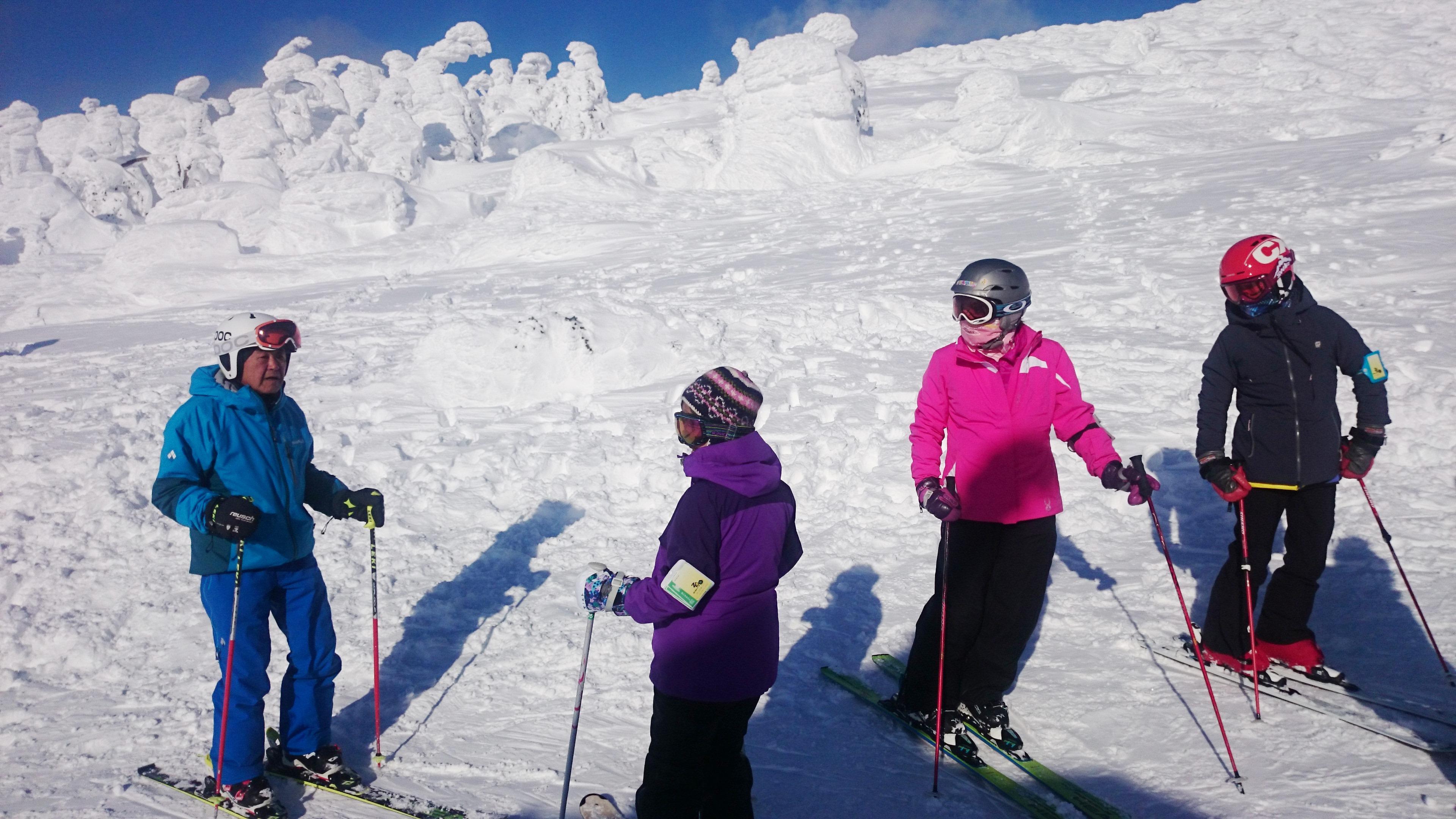 スキーレッスンの様子