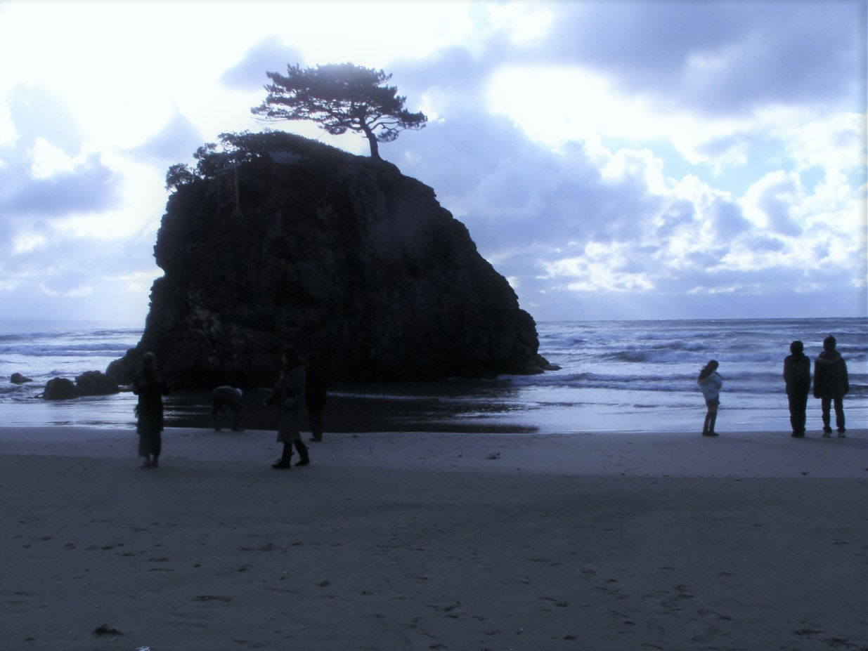 国譲り、国引きの神話で知られる稲佐の浜