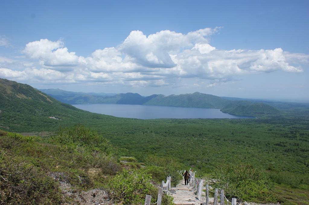 樽前山登山道からの眺望