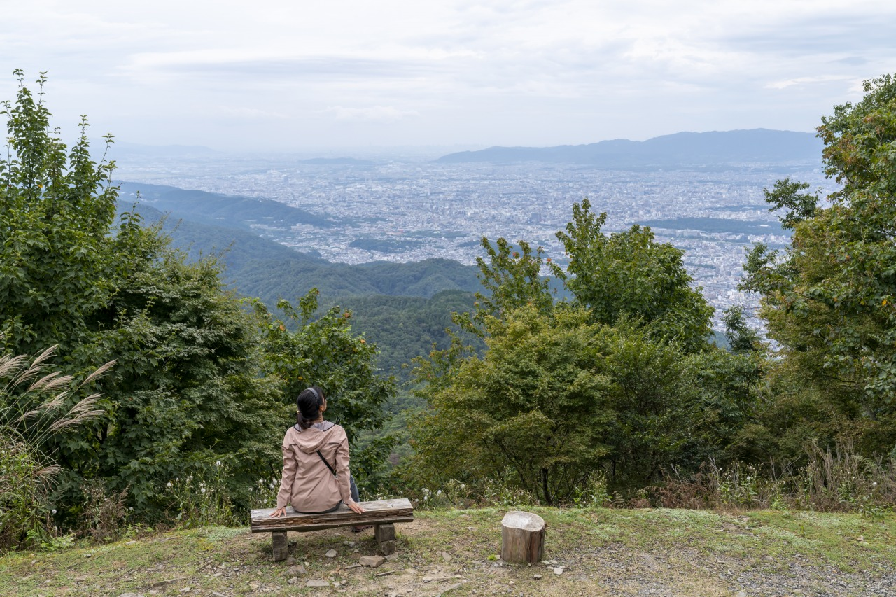 比叡山付近より京都市街を望む