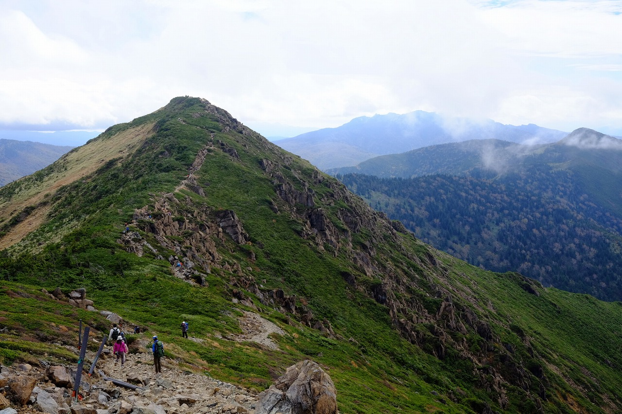 蛇紋岩特有の植生をもつ至仏山