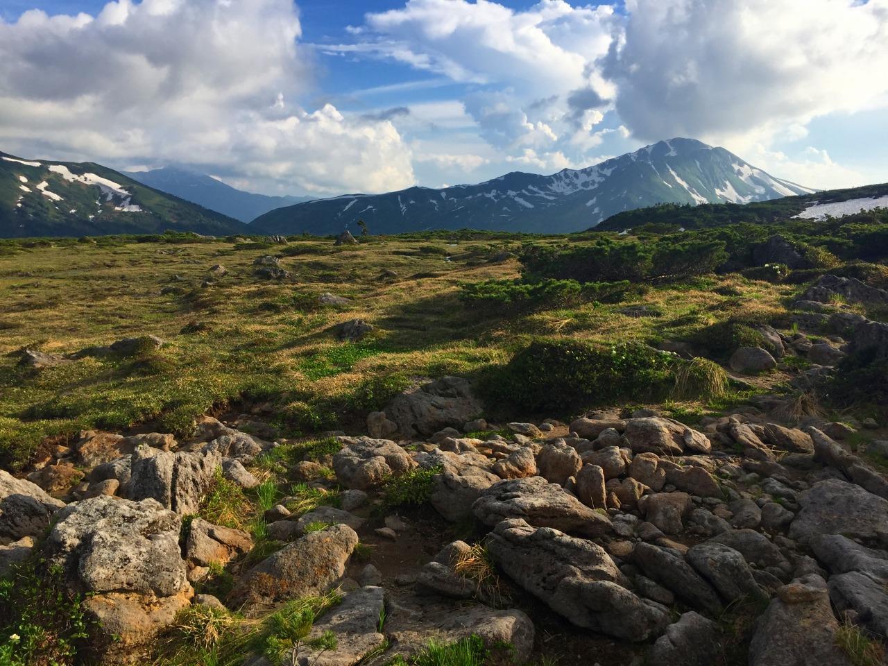 雲ノ平から黒部五郎岳を望む