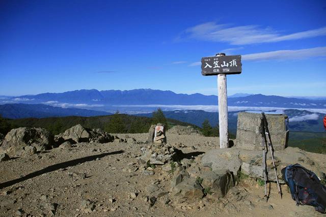 入笠山山頂(1995m)からの360度のパノラマ