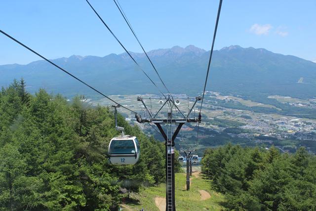 富士見パノラマリゾート ゴンドラで山頂駅(1780m)へ