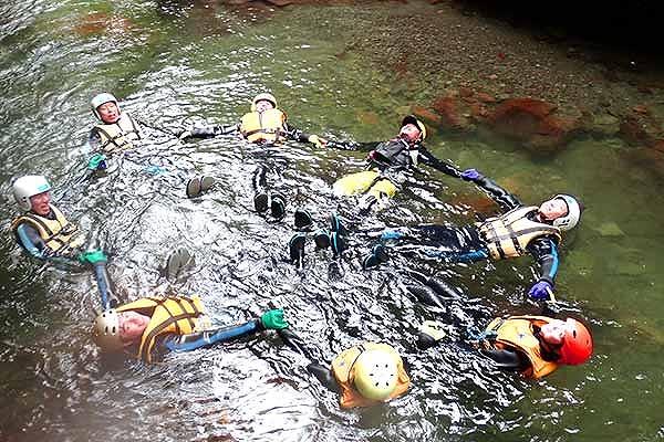 トナシベツ川のキャニオニング