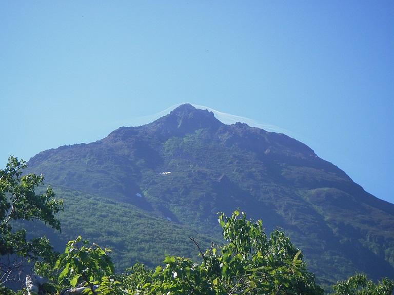 極楽平からの羅臼岳山頂