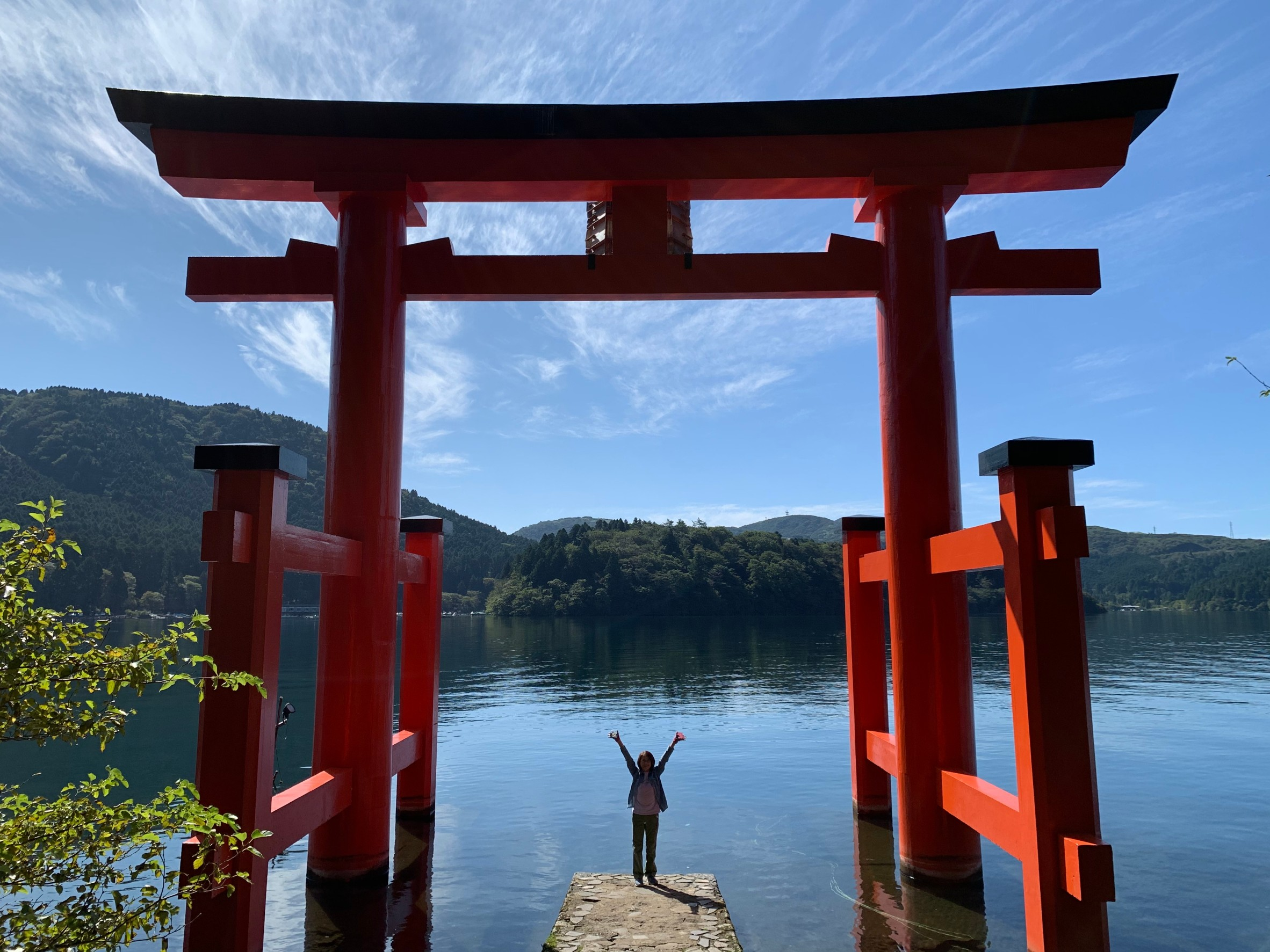 箱根神社・芦ノ湖畔の大鳥居