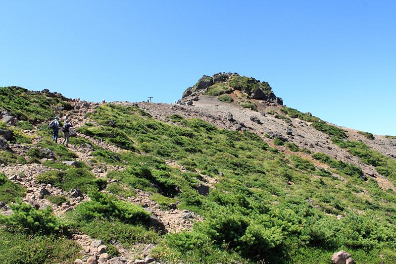 安達太良山山頂部(別名:乳首山)