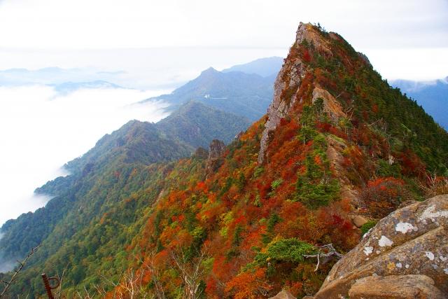 石鎚山最高峰 天狗岳