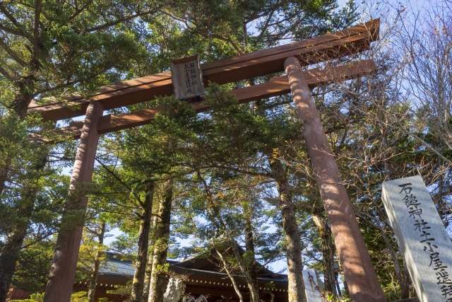 土小屋遥拝殿(石鎚山登山入り口)