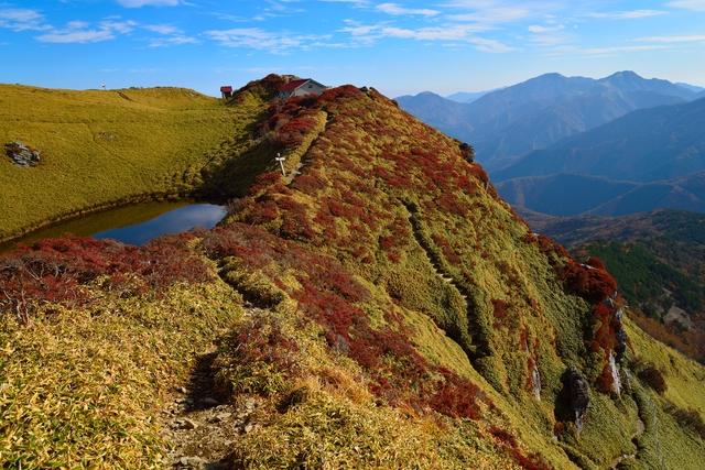 美しい三嶺の景色