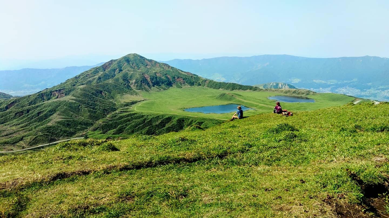 阿蘇中央火口丘をハイキング