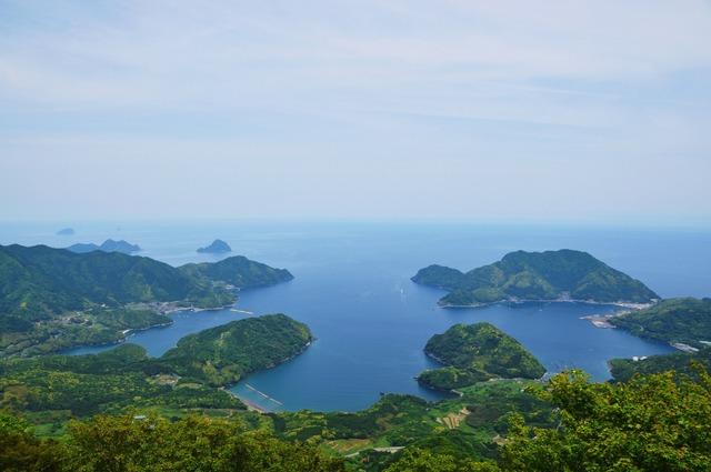 青葉山(若狭富士)山頂より望む内浦湾