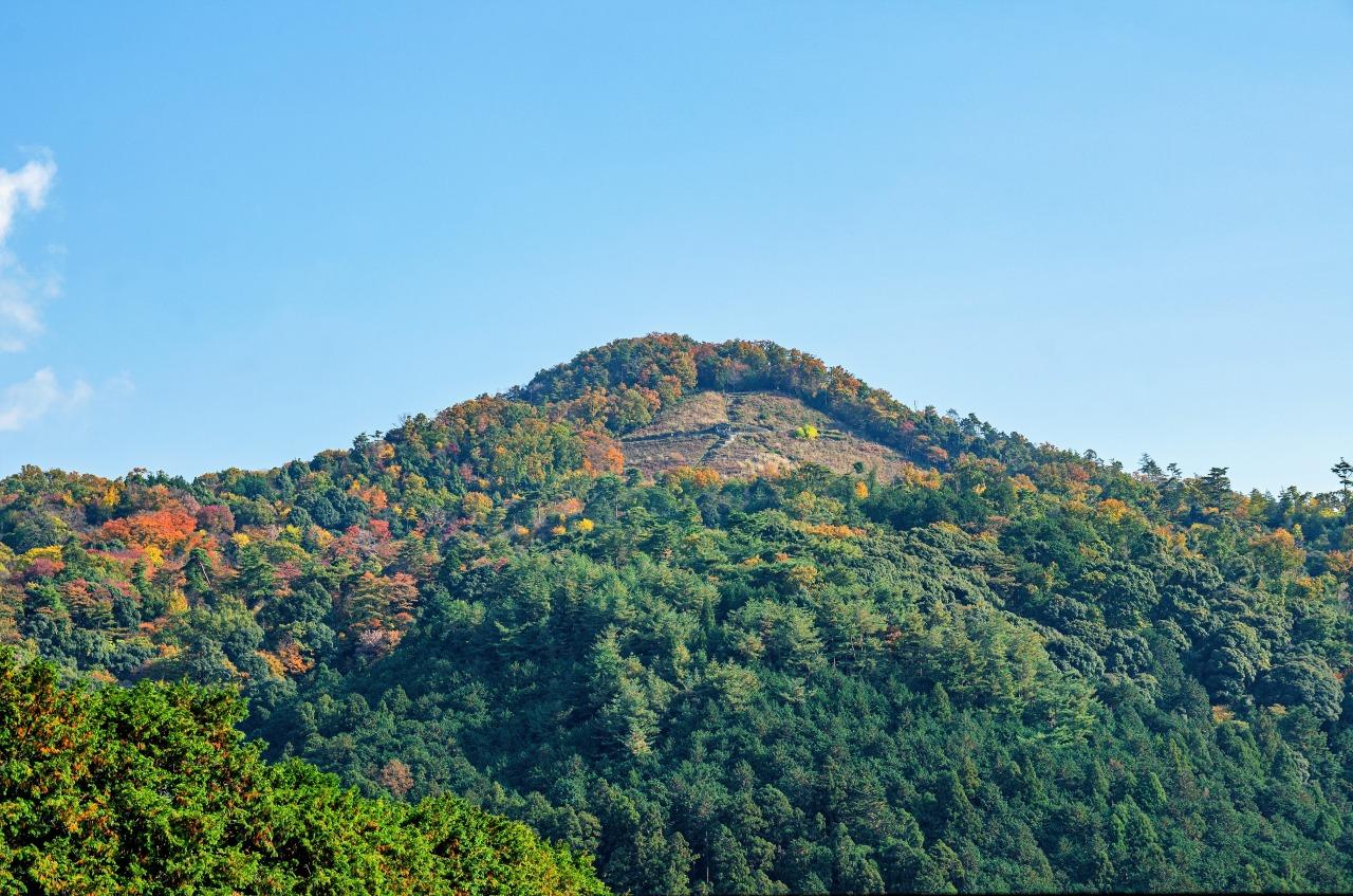 京都市内から望む秋の大文字山