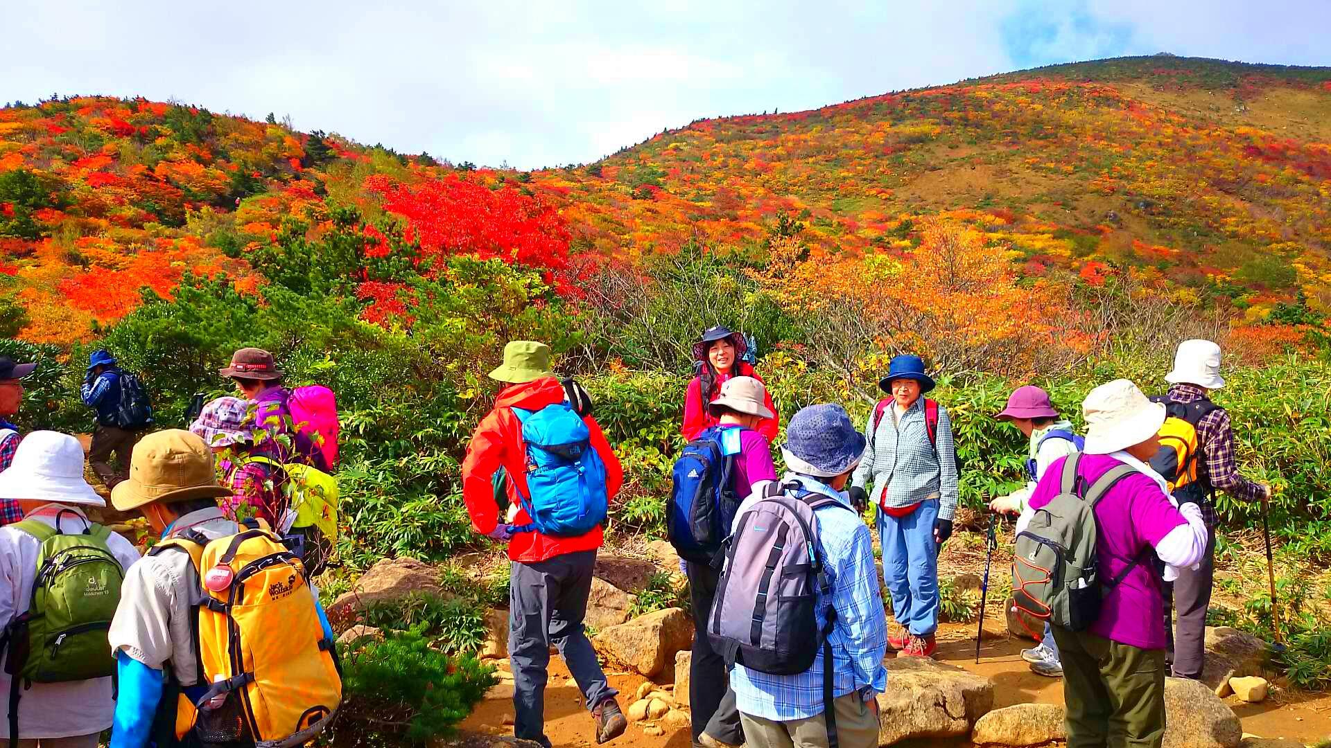 安達太良山の紅葉登山