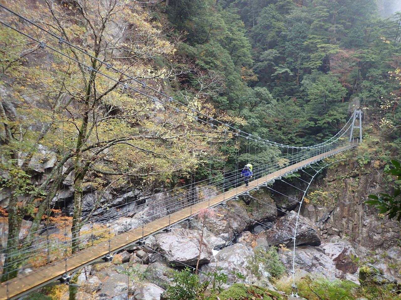秋の大杉谷 大杉谷峡谷には11もの吊橋がかかっていてそこからは雄大な景色を楽しむ事ができます。